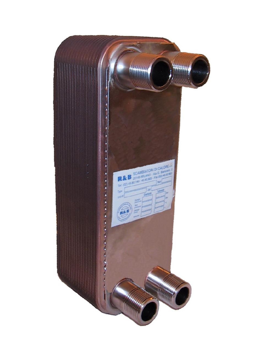 Plate heat exchanger welded with brazing process
